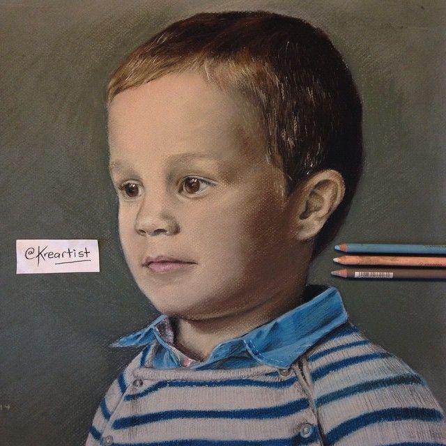 """Jon"" pastel 40x50 cm. Original picture: @aizeafotografia"