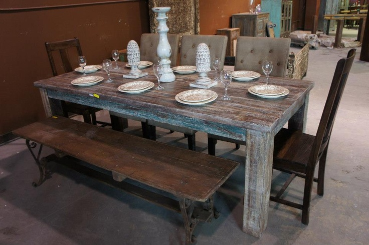 Love this rustic table!!!<3   Now only $1749. Visit our website: www.showhomefurnituresale.com Or like us on Facebook and receive $50 off any purchase over $500: www.facebook.com/showhomefurniture