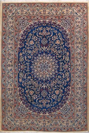 """Nain Persian Rug, Buy Handmade Nain Persian Rug 6' 8"""" x 9' 10"""" , Authentic Persian Rug"""
