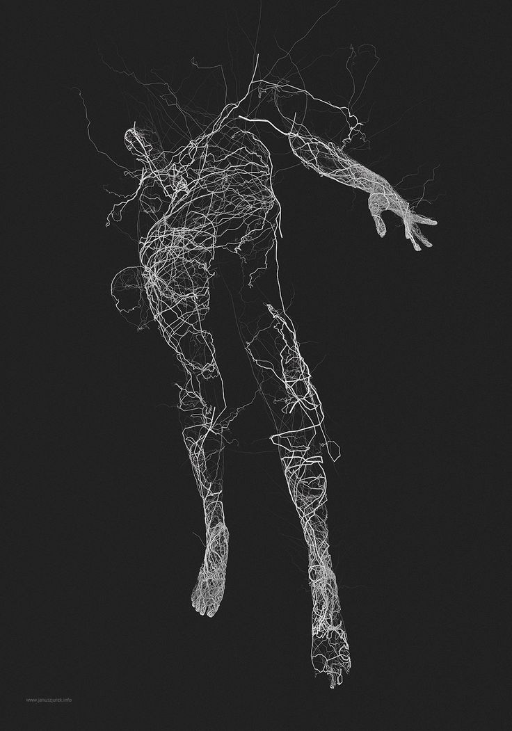 Generative Illustrations of the Human Form by Janusz Jurek