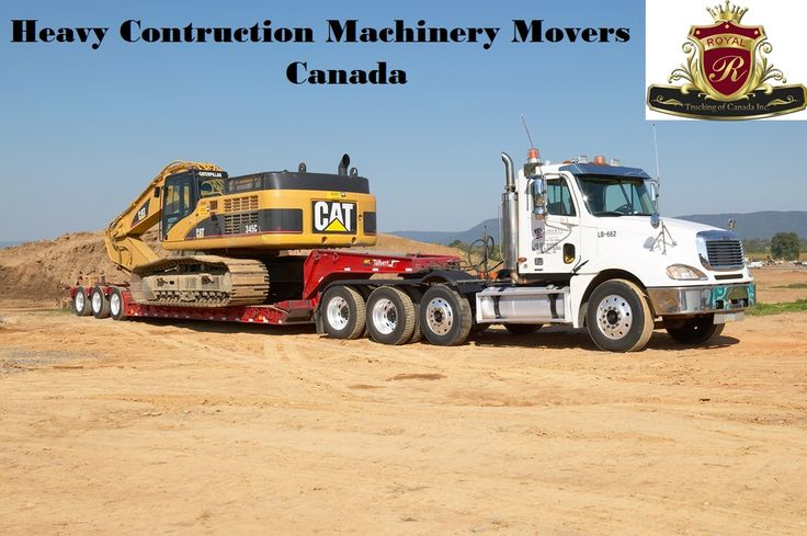 heavy machinery movers toronto, Royal Trucking of Canada is an Equipment moving and trailer rental service provider across Canada. We are the most reliable services in the greater Toronto area for relocating your heavy machinery in a safe and timely manner. Our customers trust us because of our flawless services. Due to this, we are considered as the most reliable service provider when it comes to heavy equipment relocating services