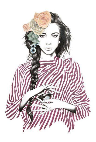Иллюстрации с девушками фото #2