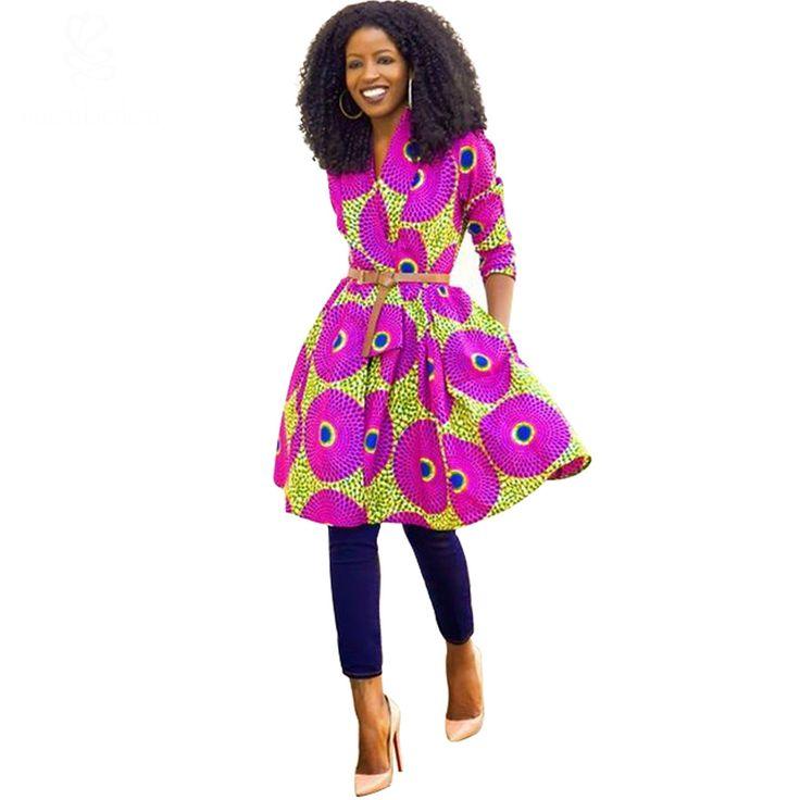 spring autumn 2016 Women Coat African dresses clothing Ankara batik wax print long sleeve clothes coat pure cotton plus size