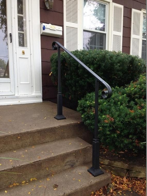 6 Ft Wrought Iron Handrail Step Rail Stair Rail With Etsy Iron   Iron Steps For Home   Banister   Railing   Near Me Handrail   Manufactured Home   Mobile Home