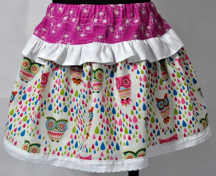 The Rainbow Owls Ruffled Skirts are handmade and designed here in Australia by a boutique baby designer label 'Little M Designs'. The skirt is made from quality fabric and is finished with a elastic waist for maximum comfort and easy fitting.