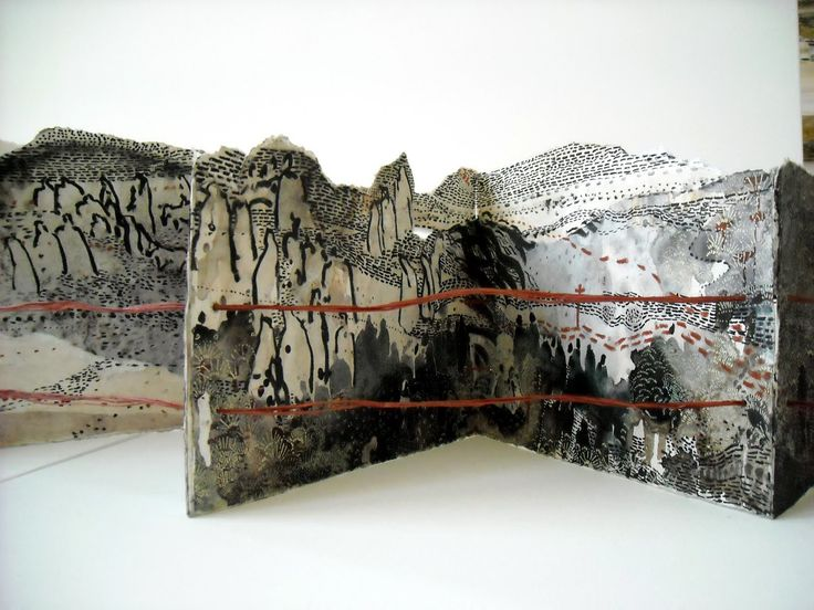 The Border Crossed Me, Desert by Monique Janssen-Belitz, artist book, mixed media, 2010