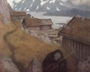 She Is Making Her Way Through the Country - Theodor Severin Kittelsen