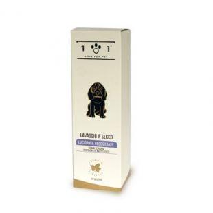LAVAGGIO A SECCO Deodorante per cane | Linea 101 pH neutro Delicato e Nutritivo Lucidante e Deodorante per cane cani