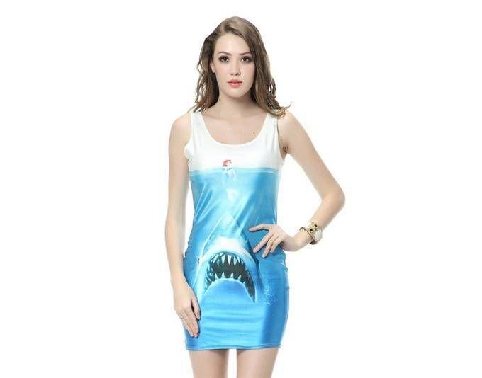 Arielle Stretchkleid Shark Attack Jetzt bestellen unter: https://mode.ladendirekt.de/damen/bekleidung/kleider/sonstige-kleider/?uid=0522f8e3-01b4-5f56-b1a9-9c54c3a40adb&utm_source=pinterest&utm_medium=pin&utm_campaign=boards #sonstigekleider #kleider #bekleidung