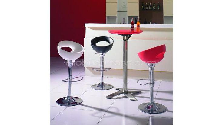 hupe tabouret bar cuisine coque pvc noire assise blc mobilier moss