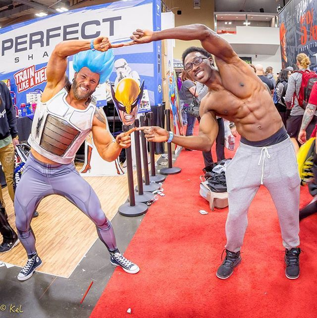 Reposting @gym_cosplay: #motivationmonday Shoutout to this fellow Arnold Classic competitor @prayerislife , it was great chilling with you bud. Motivated to Hit the next level!!! ✊💪 . . 📷 @kelpres Thank you @cosplaystationcanada for the awesome wig! . . #gym_cosplay  #dragonballz #dbz #goku #dragonball #anime #vegeta #supersaiyan #dragonballzkai #otaku #cosplay #cosplayer  #comiccon #comics #geek