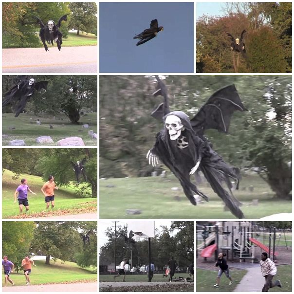 How to horrify people with a flying Halloween reaper, How to, how to do, diy instructions, crafts, do it yourself, diy website, art project ideas