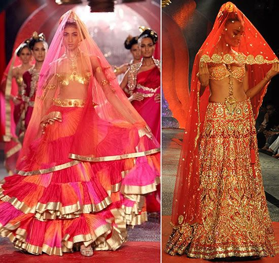 Love the colors on the left - Suneet Verma at Delhi Couture Week 2011