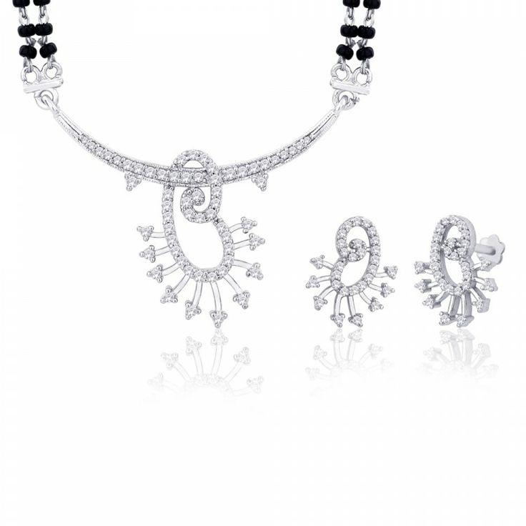 Peora | Reena - Rhodium Plated - Mangalsutras - Women's Jewellery - Jewellery | Fine Silver Jewellery