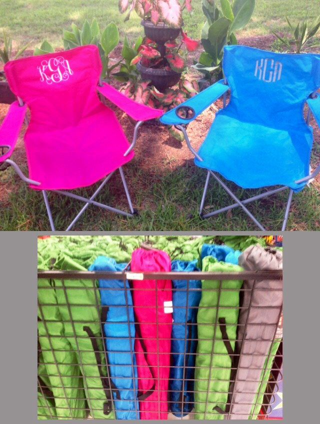 Monogrammed Folding Chair, Beach Chair, Lawn Chair, Bag Chair, Stadium Chair, Captain's Chair, Camping Chair, Tailgating Chair, Yard chair by KidsKuteKreations on Etsy https://www.etsy.com/listing/238242557/monogrammed-folding-chair-beach-chair