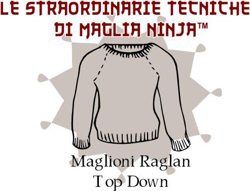 Questa è la mia ricetta personale per fare una maglione raglan top-down , ossia un maglione fatto come nel disegnetto sopra lavorandolo dal...