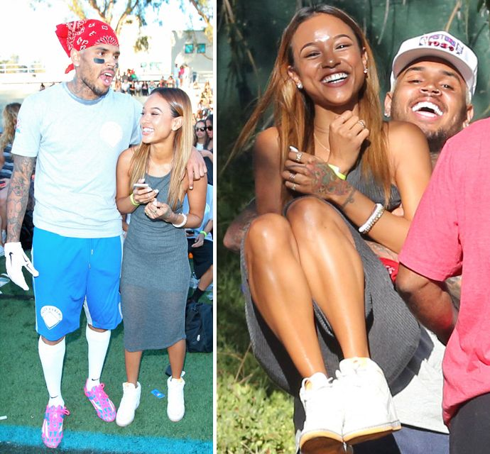 Chris Brown And His Girlfriend | Chris Brown Gets Back Together With Girlfriend Karrueche Tran At His ...