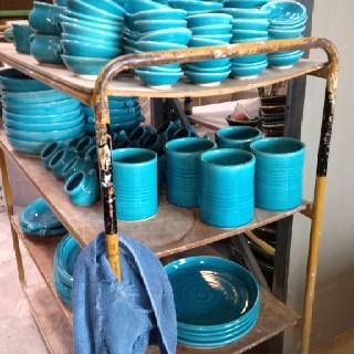 Turquoise at Tony Sly Pottery.