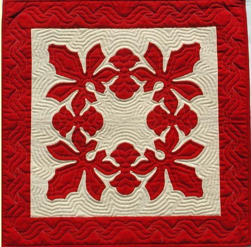 Another Hawaiian Quilt Block Hawaiian Quilts Hawaiian