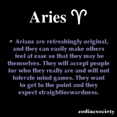 Aries Zodiac Facts: