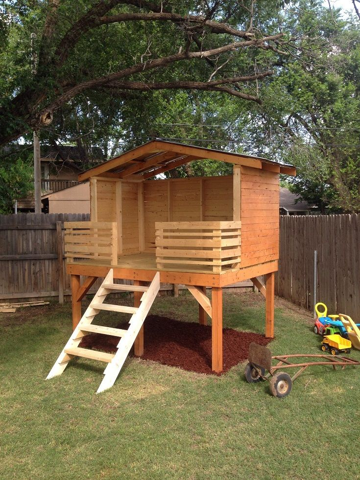 Best 10 backyard fort ideas on pinterest tree house for Play yard plans