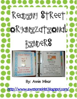 FREE This freebie is a 40 page packet that will get all of your resources for each Reading Street Story in one place for easy access.  Each unit is plac...