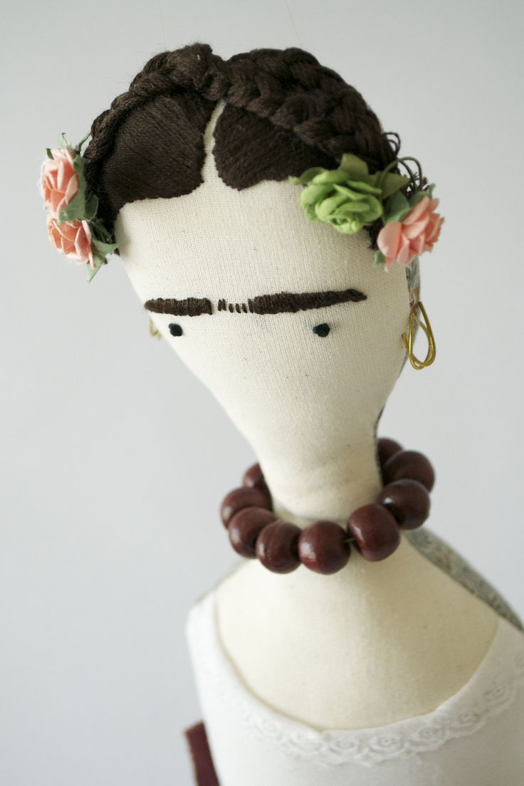 Frida doll in white top