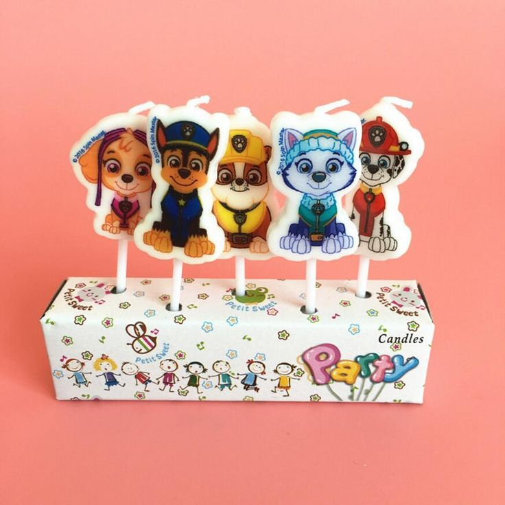 [Visit to Buy] 5PCS Patrol Dog Candle Patrol Puppy Dog Cake Candle Topper Patrulla Canina Birthday Decoration Kids Christmas Party Supply #Advertisement
