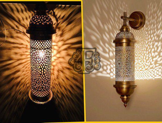 Wall Light Fixtaure Moroccan Copper Brass Sconces Moroccan Etsy Brass Wall Light Wall Lights Indoor Wall Sconces