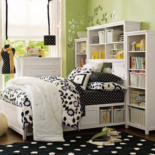 storage idea for the girls' bedroom