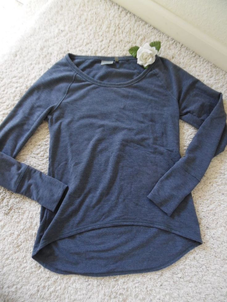 ATHLETA LONG SLEEVE PULLOVER S~ATHLETA RUN GYM STUDIO WORKOUT COVER UP M~90% NEW #ATHLETA #LONGSLEEVE