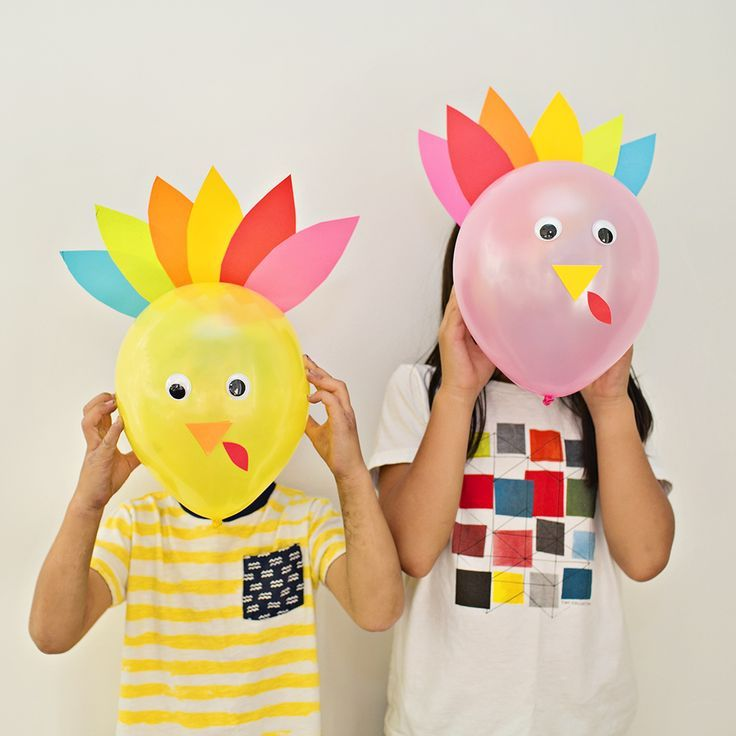 DIY Thanksgiving Turkey Balloons. Cute And Easy Turkey Craft For Kids Or  Decor For Your