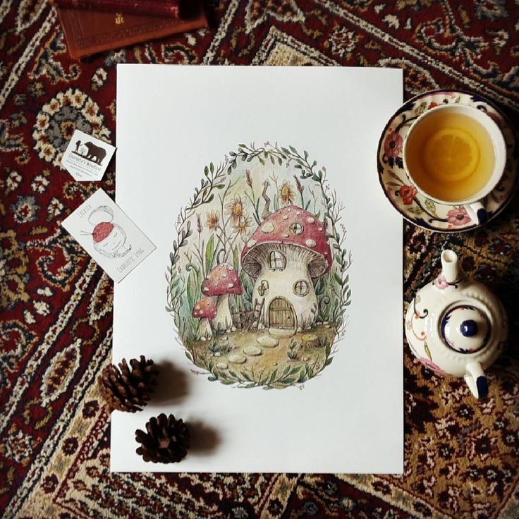 The beautiful print I won from @charlotte_lyng in her recent giveaway arrived today! I just need to get a suitable frame now. I've lost my voice, so tea is herbal ginger with a slice of lemon. #toadstool #toadstoolhouse #artprint #faerytale #fairytale #tea #teatuesday #herbaltea #morigirl #morikei #forestgirl #forestkei #naturalkei #rustic #woodlandhome #supportsmallbusiness