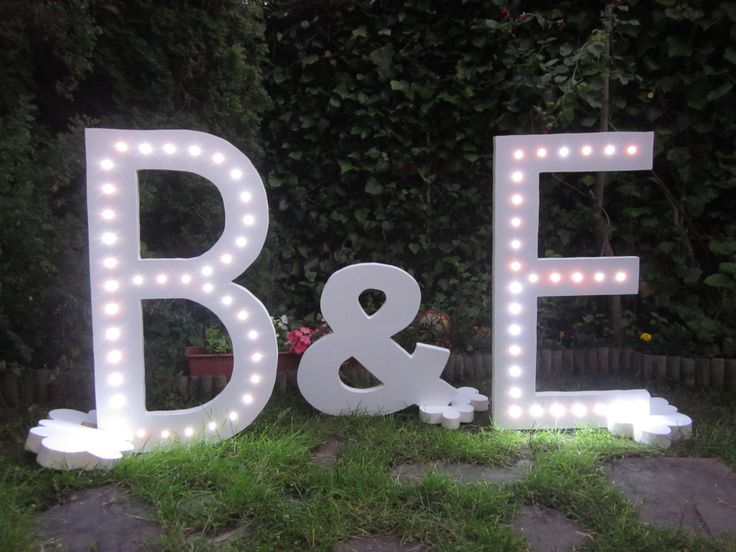 37 or 24  inches Light letter. Iluminated Letter. Great for any event :) de Letrasdecorativas en Etsy