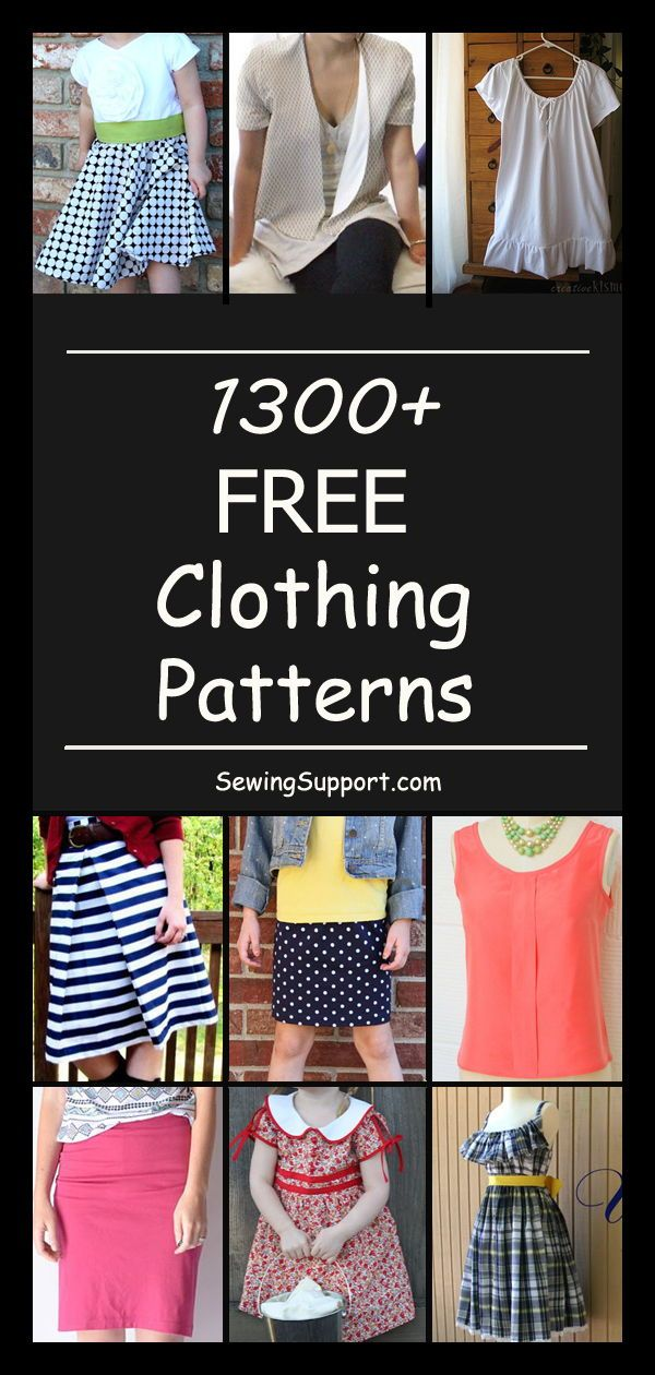 1300+ Free Clothing Patterns   Sewing patterns   Sewing patterns