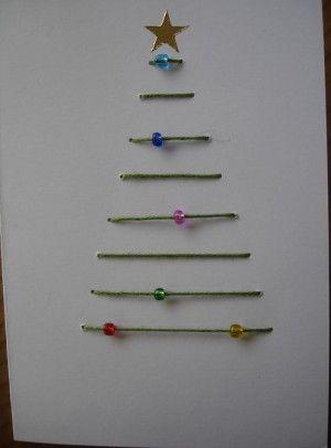 Kerstborduren op kaarten