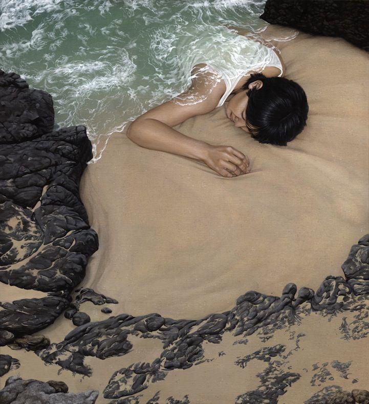 Surreal Paintings Cloak People in Landscapes - My Modern Metropolis