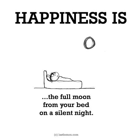 HAPPINESS IS...the full moon from your bed on a silent night.