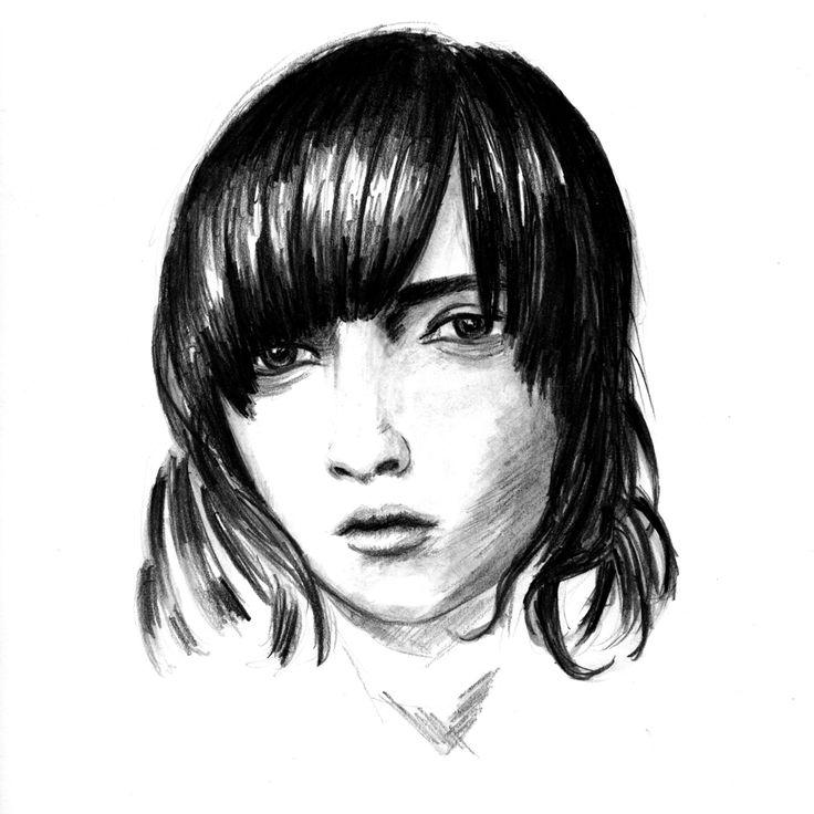 raisedbyothers - Mariacarla Boscono - Carbon pencils