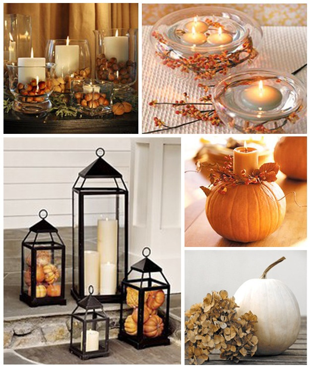 Fall Centerpiece Floating Candle Ideas: Fall Decorations