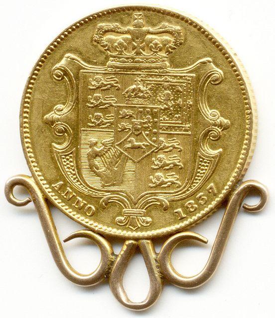 1837 UNITED KINGDOM, KING WILLIAM IV, GOLD FULL SOVEREIGN COIN, Gold Sovereign…