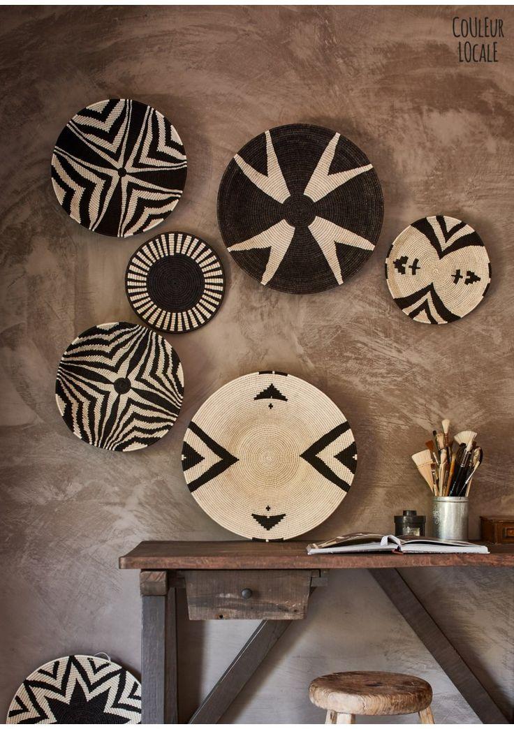 sisal basket black & white