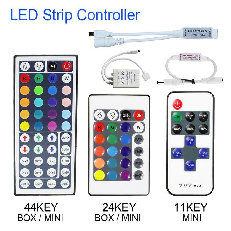 1set Remote Control Dimmer DC 12V 24keys Box 44keys 11keys Mini LED Controller for SMD 3528 5050 2835 Led Strip Light no battery