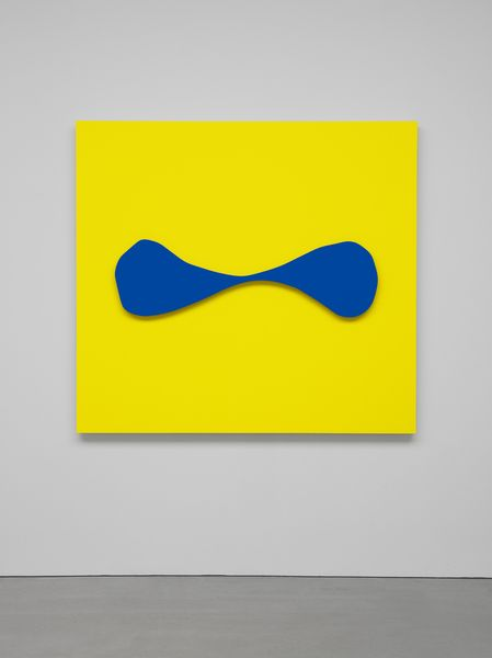 Ellsworth Kelly, Blue Relief over Yellow 2014 Oil on canvas, two joined panels 60 1/8 x 65 1/2 inches; 153 x 166 cm