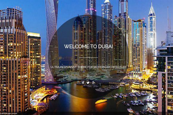 Dubai Architecture WP Theme by 3RAXTEAM on Creative Market