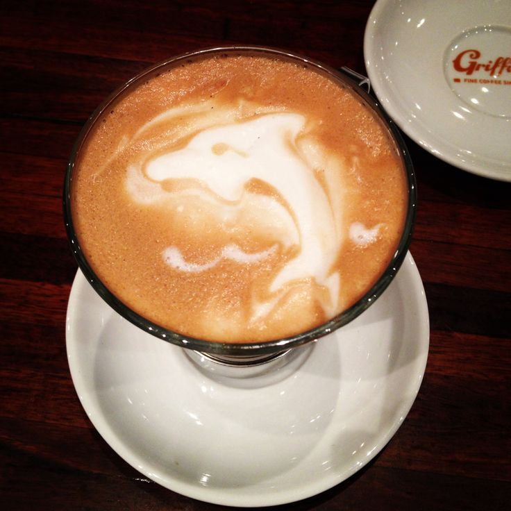 Coffee art: 3D dolphin I was playing around with :)  Poured by me