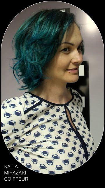 Katia Miyazaki Coiffeur - Salão de Beleza em Floripa: cabelo verde azulado -  green hair  - green mermai...
