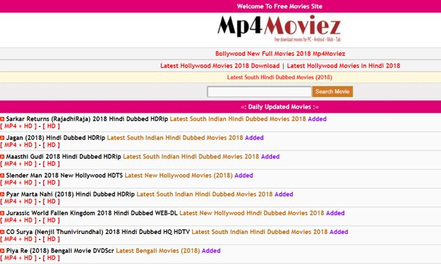 Mp4Moviez 2018: Download Latest Hollywood & Bollywood Movies on www