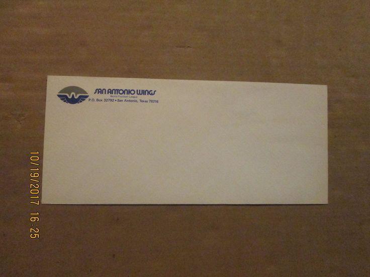 WFL San Antonio Wings Vintage Defunct Team Logo Football Business Envelope