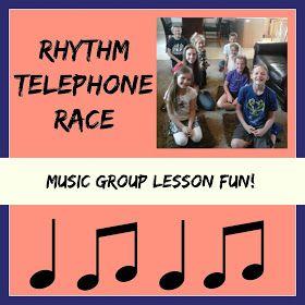 Heidi's Piano Studio: Rhythm Telephone Race